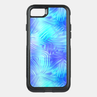 Soft Blue Patterned Glass OtterBox Commuter iPhone 8/7 Case