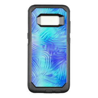 Soft Blue Patterned Glass OtterBox Commuter Samsung Galaxy S8 Case