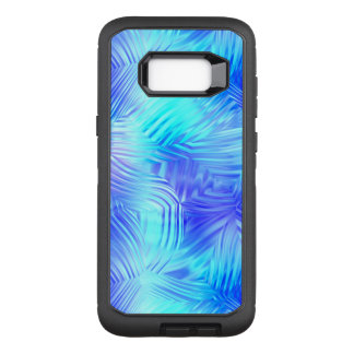 Soft Blue Patterned Glass OtterBox Defender Samsung Galaxy S8+ Case