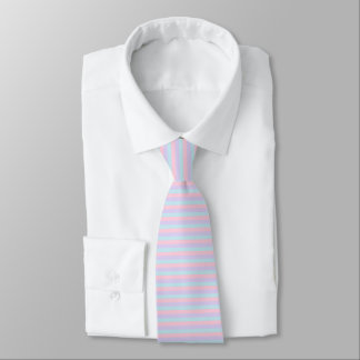 Soft Blue, Pink and Purple Stripes Tie