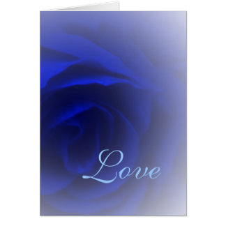 Soft Blue Rose Card