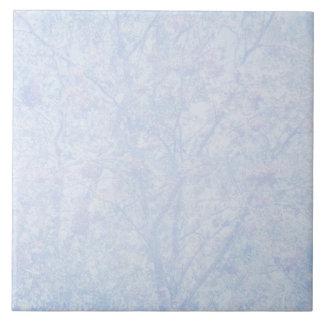 Soft Blue Tint Rowan Pattern Tile