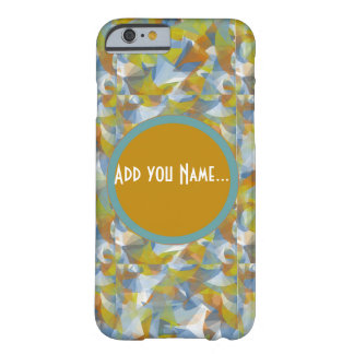 Soft blues/greens/orange swirling monogram phone barely there iPhone 6 case