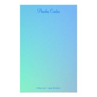 Soft Blues Stationery