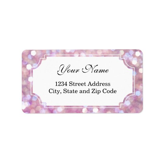 Soft Bokeh Glitter Sparkles Address Label