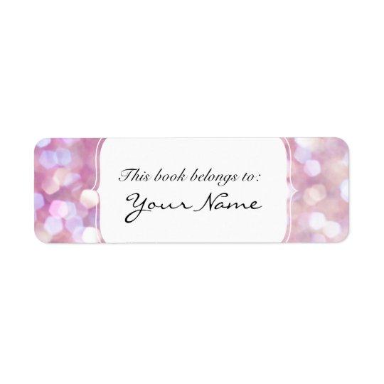 Soft Bokeh Glitter Sparkles Return Address Label