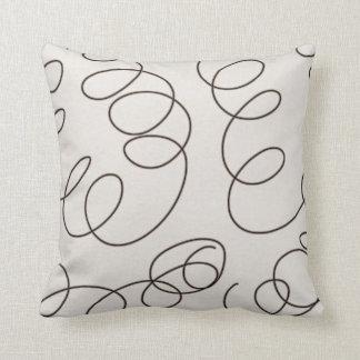 soft brown decorative doodle swirls pillow