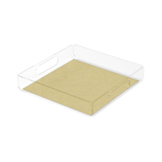Soft Brushed Gold Acrylic Tray