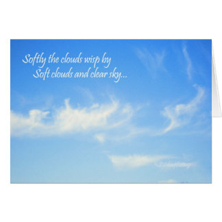 Soft Clouds... Greeting Card