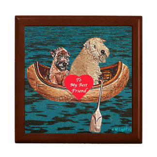 Soft-Coated Wheaten Terrier - Best Friends Large Square Gift Box