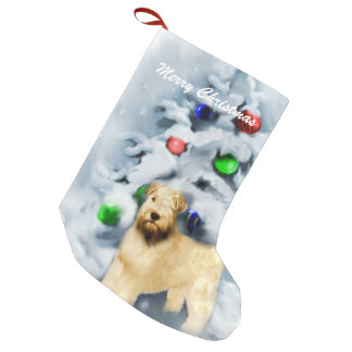 Soft Coated Wheaten Terrier Christmas Small Christmas Stocking