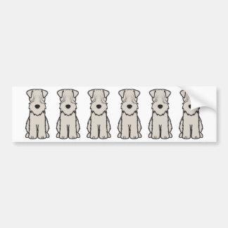 Soft Coated Wheaten Terrier Dog Cartoon Bumper Sticker