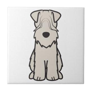 Soft Coated Wheaten Terrier Dog Cartoon Ceramic Tile