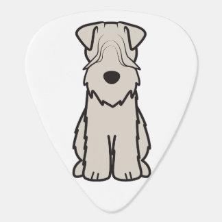 Soft Coated Wheaten Terrier Dog Cartoon Plectrum