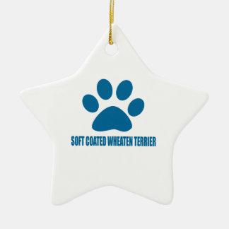 SOFT COATED WHEATEN TERRIER DOG DESIGNS CERAMIC ORNAMENT