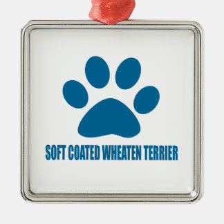 SOFT COATED WHEATEN TERRIER DOG DESIGNS METAL ORNAMENT