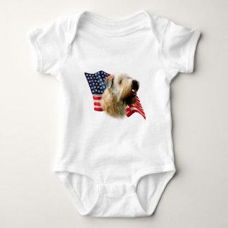 Soft Coated Wheaten Terrier Flag Baby Bodysuit