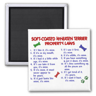 SOFT-COATED WHEATEN TERRIER Property Laws 2 Square Magnet