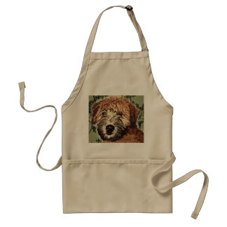 Soft-Coated Wheaten Terrier Puppy with Wet Face Standard Apron
