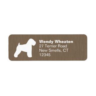 Soft Coated Wheaten Terrier Silhouette Return Address Label