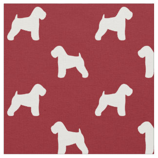 Soft Coated Wheaten Terrier Silhouettes Red Fabric