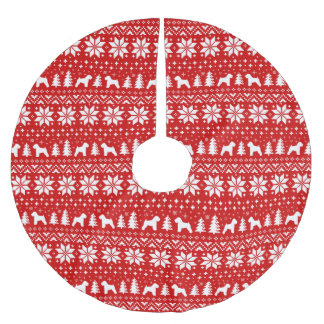 Soft Coated Wheaten Terriers Christmas Pattern Brushed Polyester Tree Skirt