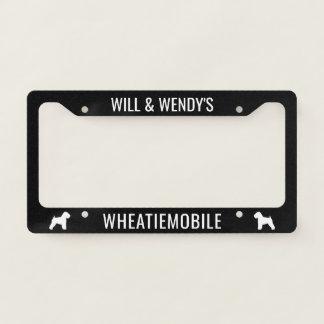 Soft Coated Wheaten Terriers Wheatiemobile Custom Licence Plate Frame