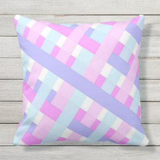 Soft Color Gingham pattern Cushion