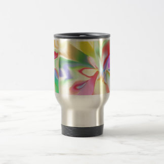 Soft Colored Rainbow Travel Mug
