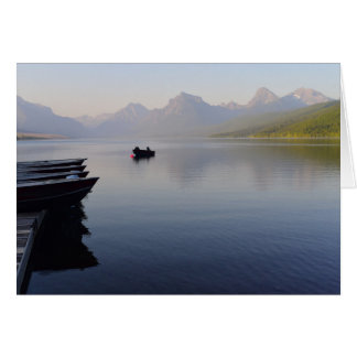 Soft Colours of a Lake McDonald Evening Card