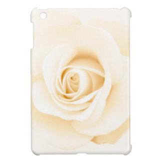 Soft cream colored rose elegant floral iPad mini cover