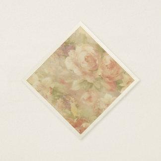 Soft Cream Roses Paper Napkins