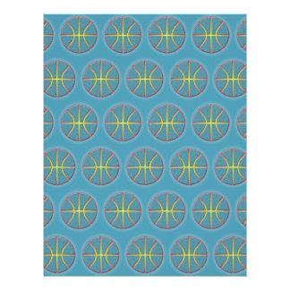 Soft cyan basketballs 21.5 cm x 28 cm flyer