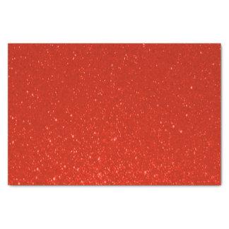 Soft Deep Red Glitter Print Tissue Paper