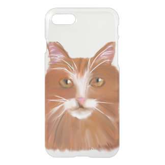 soft drawing of orange tabby on your iPhone 7 iPhone 7 Case