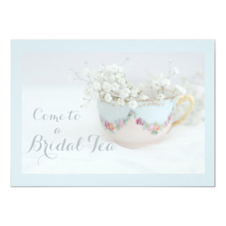 Soft Dreamy Blue Bridal Tea Shower Invitations
