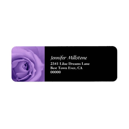 Soft Dreamy Purple Rose Premium Wedding Collection Return Address Label