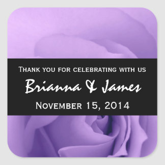 Soft Dreamy Purple Rose Premium Wedding Collection Square Sticker