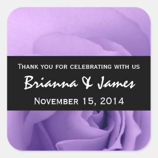 Soft Dreamy Purple Rose Premium Wedding Collection Square Stickers