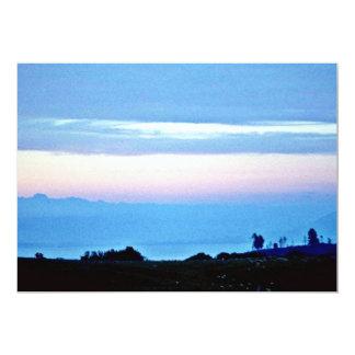Soft Evening Over Rotorua, North Island 13 Cm X 18 Cm Invitation Card