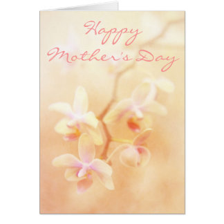 Soft & Faded Orchids Mother's Day Card