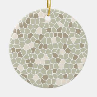 Soft Fern, Honeyed Almond and Nantucket Gray Round Ceramic Decoration