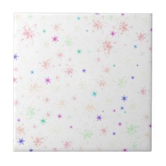 Soft Floral Flowers Ceramic Tile