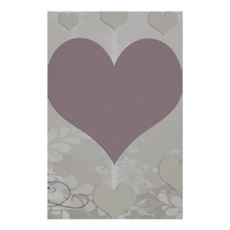 Soft Floral Hearts Set Stationery