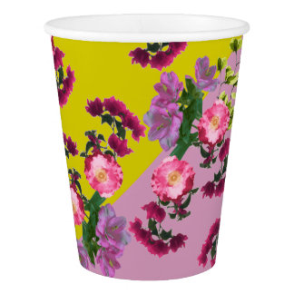 Soft Floral Print by Zala02Creations Paper Cup