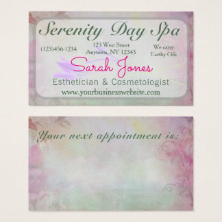 Soft Floral Professional Pastel Business Card Spa