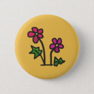 Soft flower 6 cm round badge