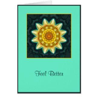 Soft Flower Mandala Healing Card