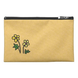 Soft Flower yellow Travel Accessory Bag