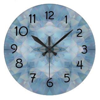 Soft Flowers Large Clock
